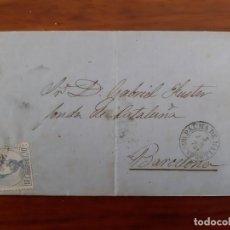 Selos: CIRCULADA Y ESCRITA 1872 DE PALMA DE MALLORCA BALEARES A FONDA DE CATALUÑA BARCELONA . Lote 158779734