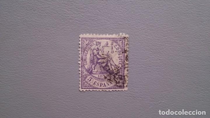 ESPAÑA - 1874 - I REPUBLICA - EDIFIL 144 - LUJO - BIEN CENTRADO - VARIEDAD - CALCADO AL DORSO. (Sellos - España - Amadeo I y Primera República (1.870 a 1.874) - Usados)