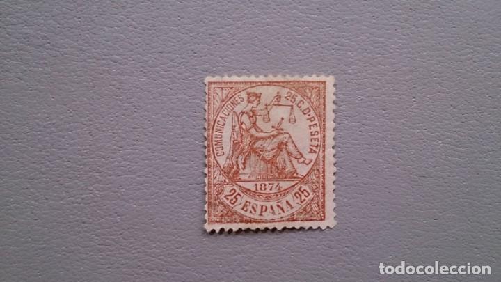 ESPAÑA - 1874 - I REPUBLICA - EDIFIL 147 - MNH** - NUEVO - VARIEDAD - CALCADO AL DORSO - LUJO. (Sellos - España - Amadeo I y Primera República (1.870 a 1.874) - Nuevos)