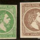 Sellos: ESPAÑA EDIFIL 160/161 (*) CARLOS VII SERIE COMPLETA 1875 NL898. Lote 160415594