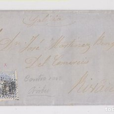 Sellos: ENVUELTA DE AVILÉS, ASTURIAS. A RIBADEO. 1872. MATRONA. Lote 161009546