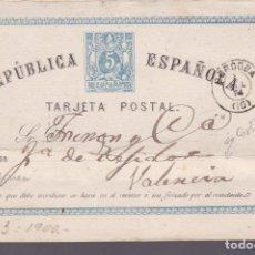 Timbres: F2-30- ENTERO POSTAL CÓRDOBA - VALENCIA 1874. Lote 161106478