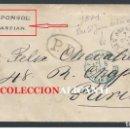 Sellos: SAN SEBASTIAN - CARTA AÑO 1871 - 12 CUARTOS - AGAPITO PONSOL (SOMBREROS) MARCA COMERCIAL SIGLO XIX. Lote 162501542