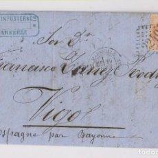 Sellos: CARTA ENTERA DE MARSELLA A VIGO, GALICIA. 1869. Lote 163993358