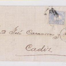 Selos: ENVUELTA DE SEVILLA A CÁDIZ. 1871. MATRONA.. Lote 166208362