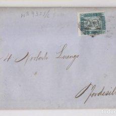 Sellos: CARTA ENTERA DE BILBAO A TORDESILLAS, VALLADOLID. 1870. RARA TARIFA IMPRESOS. Lote 166327194