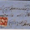 Sellos: AÑO 1856 EDIFIL 48 CARTA MATASELLOS RUEDA DE CARRETA 1 MADRID. Lote 166520462