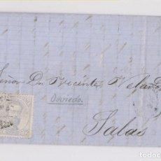Sellos: FRAUDE AL CORREO. ANGULEME A SALAS, ASTURIAS. DEPOSITADA EN OVIEDO. BELMONTE. 1872. Lote 167068952