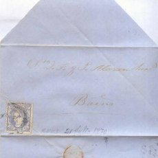 Sellos: AÑO 1870 EDIFIL 107 CARTA MATASELLOS REUS TARRAGONA . Lote 167127164