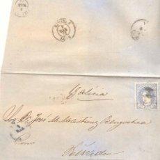 Sellos: AÑO 1870 EDIFIL 107 ENVUELTA TORREVIEJA A RIVADEO MATASELLOS ROMBO. Lote 167127884