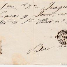 Sellos: ENVUELTA CON SELLO NUM. 107 Y MATASELLOS DE IGUALADA Y ROMBO DE PUNTOS 1872. Lote 167607828