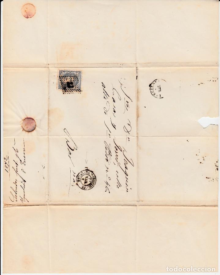 Sellos: ENVUELTA CON SELLO NUM. 107 Y MATASELLOS DE IGUALADA Y ROMBO DE PUNTOS 1872 - Foto 2 - 167607828