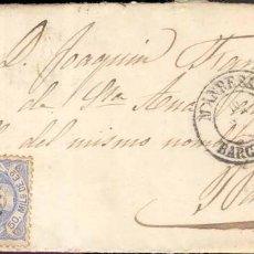 Sellos: AÑO 1870 EDIFIL 107 ALEGORIA ENVUELTA MANRESA A BARCELONA MATASELLOS ROMBO MANRESA. Lote 168573656