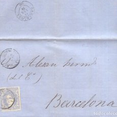 Sellos: AÑO 1870 EDIFIL 107 CARTA MATASELLOS REUS TARRAGONA . Lote 169600332