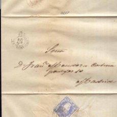 Sellos: AÑO 1870 EDIFIL 107 ENVUELTA MATASELLOS INFIESTO OVIEDO. Lote 169904920