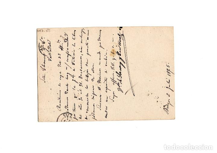 Sellos: TARJETA POSTAL REPÚBLICA ESPAÑOLA 1875 - Foto 2 - 171133215