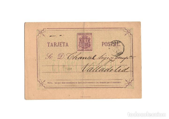 TARJETA POSTAL REPÚBLICA ESPAÑOLA 1875 (Sellos - España - Amadeo I y Primera República (1.870 a 1.874) - Cartas)