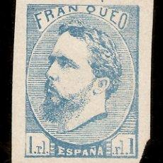 Sellos: ESPAÑA EDIFIL 156 (*) 1 REAL AZUL CARLOS VII FANTASÍA 1873 NL1452. Lote 171309127