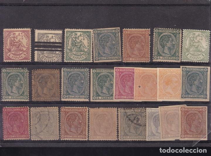 AA32- CLÁSICOS . LOTE 23 FALSOS FILATELICOS (Sellos - España - Amadeo I y Primera República (1.870 a 1.874) - Nuevos)