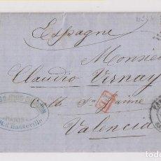 Sellos: CARTA ENTERA DE PARÍS A VALENCIA. 1871. Lote 172021867