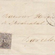 Sellos: SELLOS.141 Y 144. I REPÚBLICA: SANTANDER A BARCELONA . 1874.. Lote 172069255