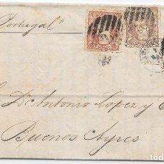 Sellos: ARGENTINA. MATRONA. ENVUELTA DE BARCELONA A BUENOS AIRES. 1871. Lote 172645709