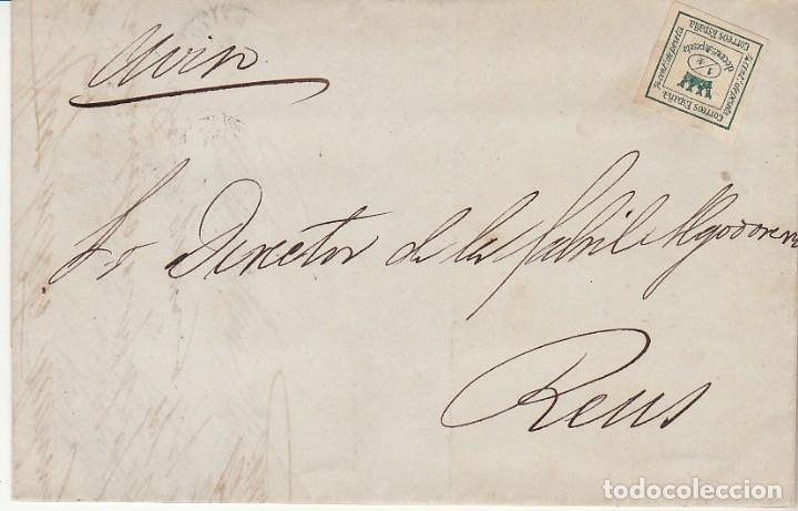 SELLO 130A. I REPÚBLICA. BARCELONA A REUS. 1875. (Sellos - España - Amadeo I y Primera República (1.870 a 1.874) - Cartas)