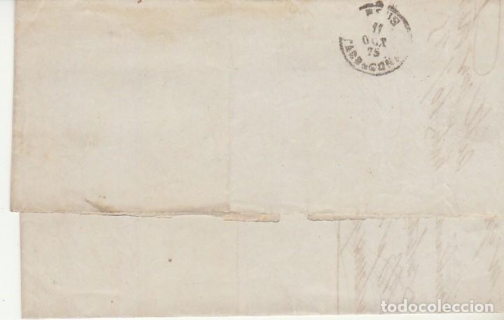 Sellos: Sello 130a. I REPÚBLICA. BARCELONA a REUS. 1875. - Foto 2 - 172705487