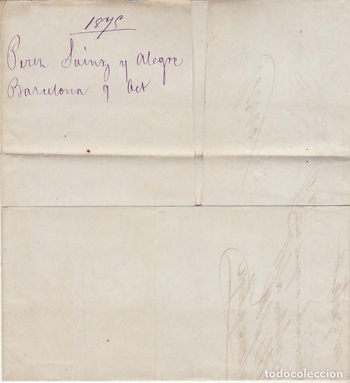 Sellos: Sello 130a. I REPÚBLICA. BARCELONA a REUS. 1875. - Foto 3 - 172705487