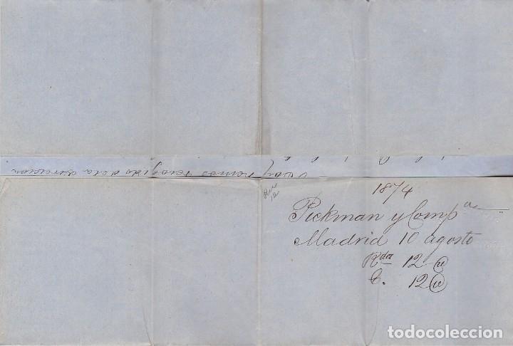 Sellos: Sellos 141 y 145. I REPÚBLICA. MADRID a SEVILLA. 1874. - Foto 3 - 172707637