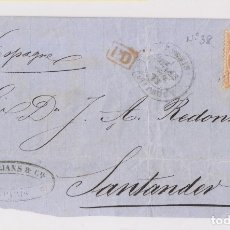 Sellos: FRONTAL. DE PARÍS A SANTANDER, CANTABRIA. 1872. Lote 172723902