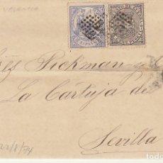 Sellos: SELLOS 141 Y 145. I REPÚBLICA. VALENCIA A SEVILLA. 1874.. Lote 172846198