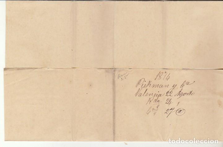 Sellos: Sellos 141 y 145. I REPÚBLICA. VALENCIA a SEVILLA. 1874. - Foto 3 - 172846198