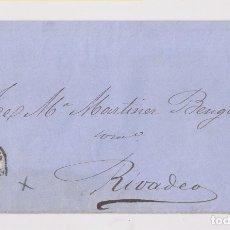 Sellos: ENVUELTA. BONITA RUEDA DE CARRETA, TARRAGONA. 1870, A RIBADEO. Lote 173028932