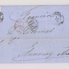 Sellos: CARTA ENTERA. DE CARTAGENA A FRANCIA. 1870. MURCIA. Lote 173426972