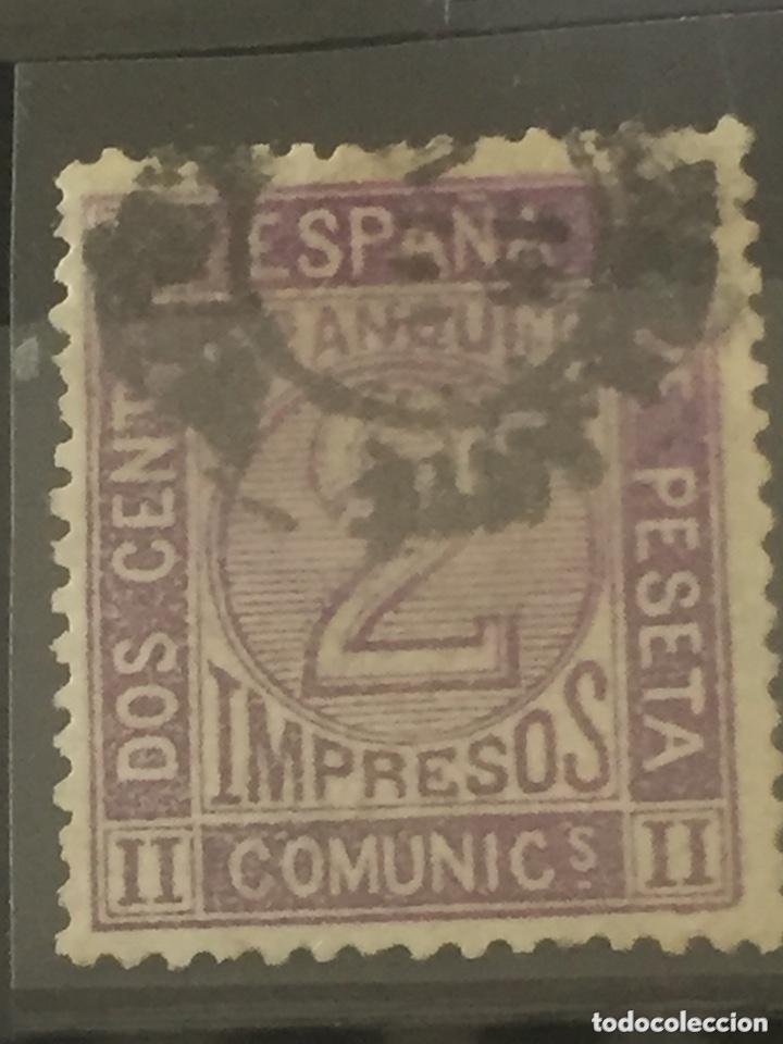 SELLOS AMADEO I CIFRAS EDIFIL 116 USADO (Sellos - España - Amadeo I y Primera República (1.870 a 1.874) - Usados)