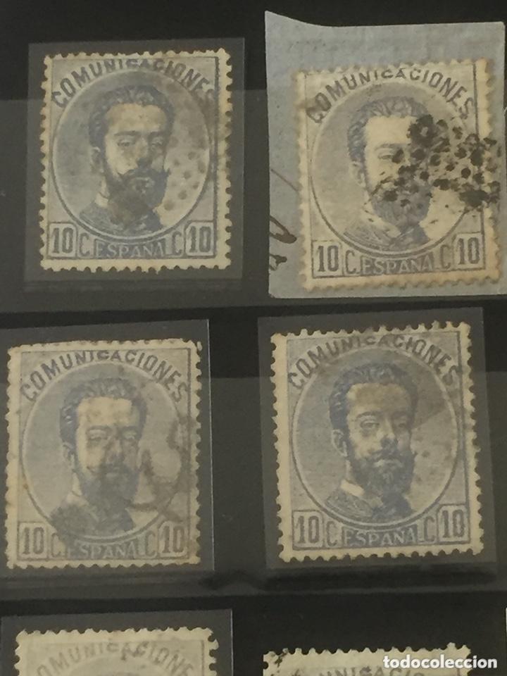 Sellos: Lote sellos Amadeo I edifil 121,122 usados. Varios matasellos interesantes. - Foto 2 - 173518085