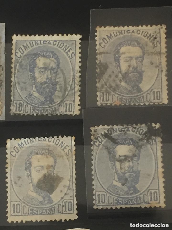 Sellos: Lote sellos Amadeo I edifil 121,122 usados. Varios matasellos interesantes. - Foto 3 - 173518085