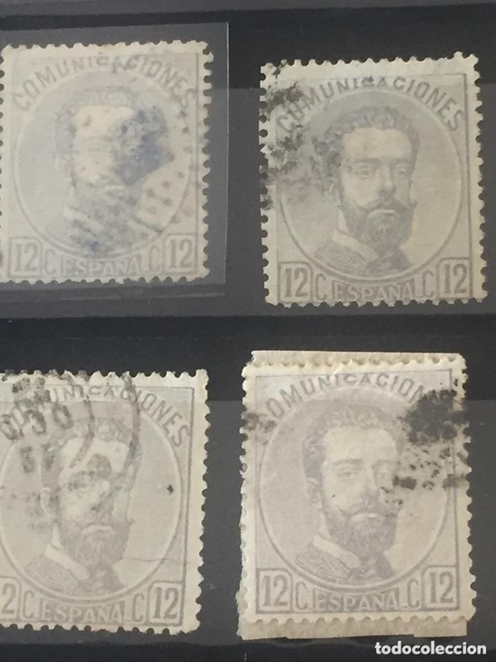 Sellos: Lote sellos Amadeo I edifil 121,122 usados. Varios matasellos interesantes. - Foto 4 - 173518085