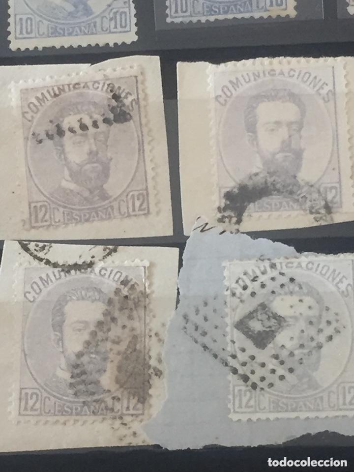 Sellos: Lote sellos Amadeo I edifil 121,122 usados. Varios matasellos interesantes. - Foto 5 - 173518085
