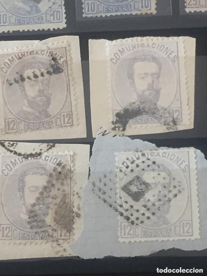 Sellos: Lote sellos Amadeo I edifil 121,122 usados. Varios matasellos interesantes. - Foto 6 - 173518085