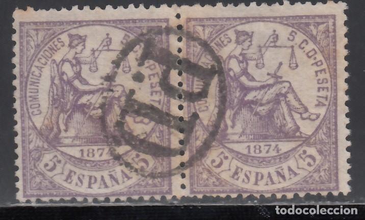 ESPAÑA,1874 EDIFIL Nº 144, MARCA POSTA FRANCESA, *PAYÉ DESTINATION* (Sellos - España - Amadeo I y Primera República (1.870 a 1.874) - Usados)