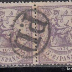 Sellos: ESPAÑA,1874 EDIFIL Nº 144, MARCA POSTA FRANCESA, *PAYÉ DESTINATION*. Lote 174193722