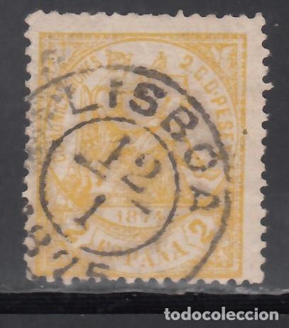 ESPAÑA,1874 EDIFIL Nº 143, MATASELLOS PORTUGAL, *LISBOA* (Sellos - España - Amadeo I y Primera República (1.870 a 1.874) - Usados)
