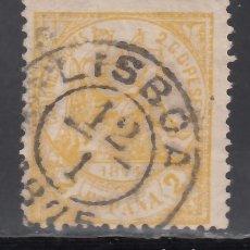 Sellos: ESPAÑA,1874 EDIFIL Nº 143, MATASELLOS PORTUGAL, *LISBOA*. Lote 174193749