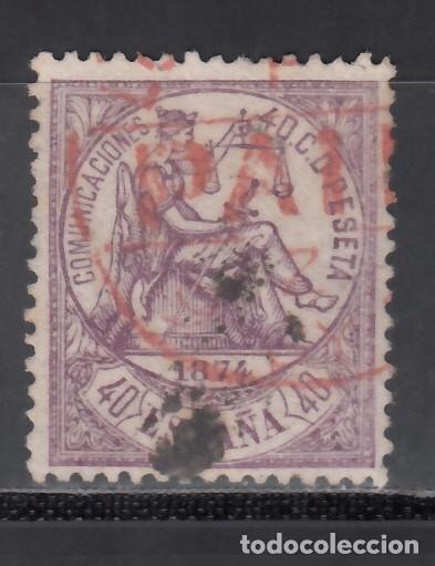 ESPAÑA, 1874 EDIFIL Nº 148 , MATASELLOS INGLÉS, *LONDON / PAID* (Sellos - España - Amadeo I y Primera República (1.870 a 1.874) - Usados)