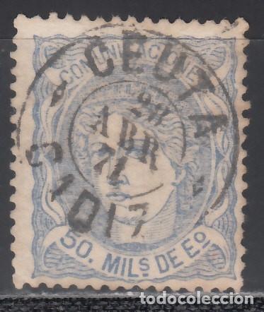 ESPAÑA, 1870 EDIFIL Nº 107, MATASELLOS FECHADOR * CEUTA, CADIZ* (Sellos - España - Amadeo I y Primera República (1.870 a 1.874) - Usados)