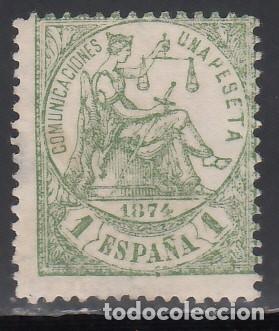 ESPAÑA, 1874 EDIFIL Nº 150 /*/ ALEGORÍA DE LA JUSTICIA, (Sellos - España - Amadeo I y Primera República (1.870 a 1.874) - Nuevos)