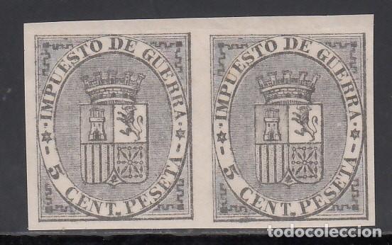 ESPAÑA, 1874 EDIFIL Nº 141S, ESCUDO DE ESPAÑA, PAREJA SIN DENTAR, (Sellos - España - Amadeo I y Primera República (1.870 a 1.874) - Nuevos)