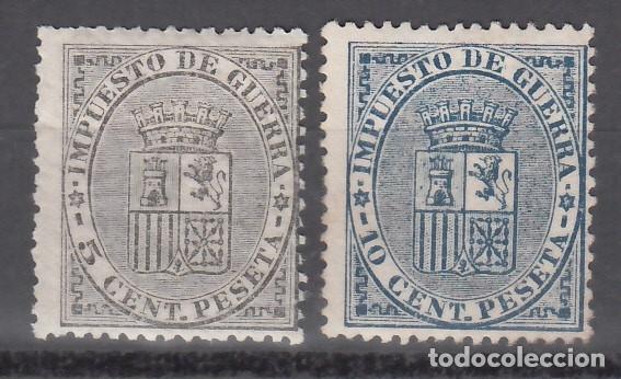 ESPAÑA, 1874 EDIFIL Nº 141 / 142 /*/, ESCUDO DE ESPAÑA. (Sellos - España - Amadeo I y Primera República (1.870 a 1.874) - Nuevos)